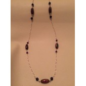Chained Bead and Gemstone Necklace