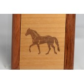 Mirror Compact with engraved Horse