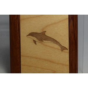 Mirror Compact with engraved Dolphin