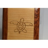 Mirror Compact with engraved Turtle