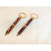 Mini-Pen Keychain, 10K Gold plated