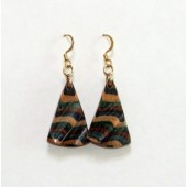 Sculptured Triangle Dangle Earrings