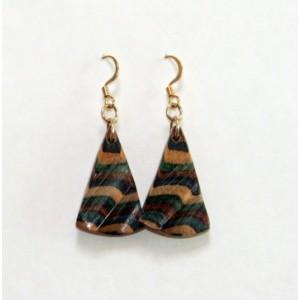 Sculptured Triangle Dangle Earrings