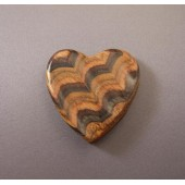 Large Sculptured Heart Pin