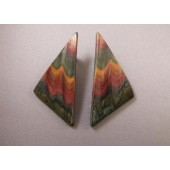Large Sculptued Triangle Post Earrings