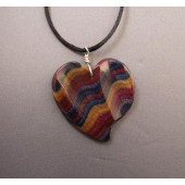 Sculptured Colonial Heart Pendant
