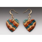 Sculptured Heart Dangle Earrings