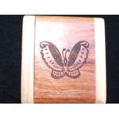 Mirror Compact with engraved Butterfly